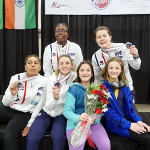 Diana and Chase with Gold Medalists Team France, SLC Women Saber World Cup