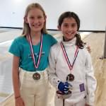 Michelle and Katie Jo, Silver and Gold Medals in Epee, SAN DIEGO CUP, March 25, 2018
