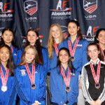 Silver Medal Women Saber Team. Junior Olympics, Columbus, February 2020