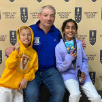 Sreya Gold with Vince and coach Dmitriy. Portland Super Youth Circuit, February 2020