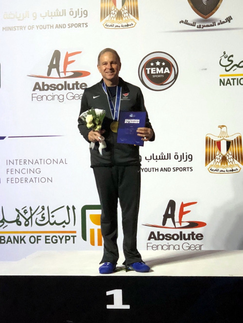 Josh Runyan: GOLD Medal in Vet 60 Men's Saber at the 2019 Veterans' Fencing World Championship in Cairo, Egypt