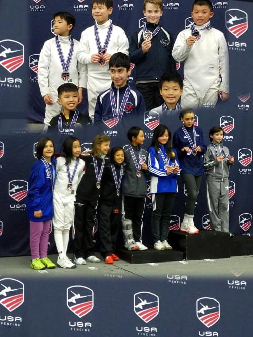 Congrats to Nathan Qiu, Christopher Lee and Diana Gomes! 2nd, 3rd and Top 8 in Y-10 Sabre at NAC in Baltimore
