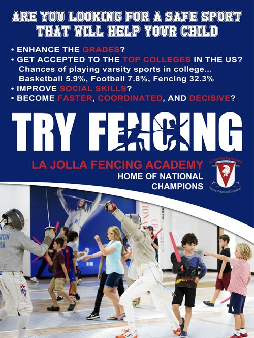Try fencing in La Jolla Fencing Aacademy